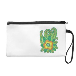 Wristlet with flower