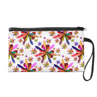 Wristlet with Stylized Flower 1