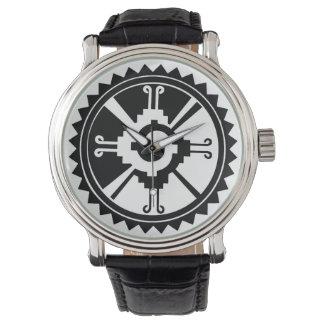 Wristwatch with Hunab Ku Mayan Symbol