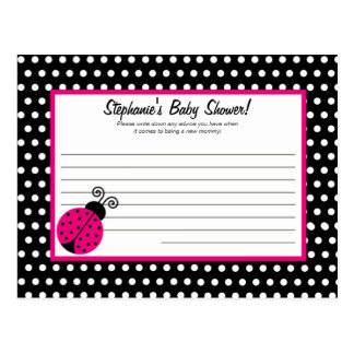 Writable Advice Card Black Spring Time Lady Bug