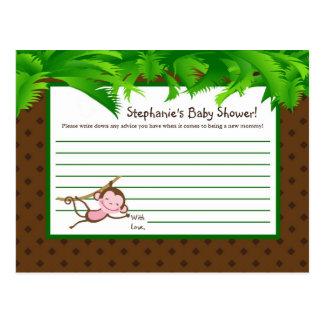 Writable Advice Card MonkeySwing Jungle Safari Zoo Postcards