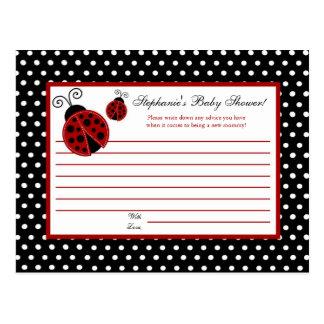 Writable Advice Card Red Ladybug Postcard