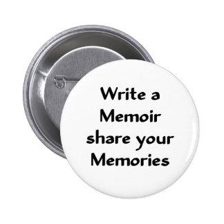 Write a Memoir 2 Inch Round Button