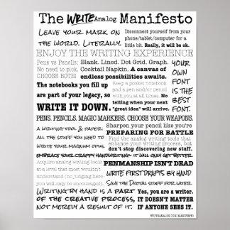 Write Analog Manifesto Poster