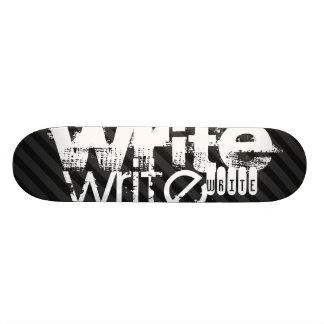 Write; Black & Dark Gray Stripes Skate Boards