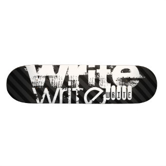 Write; Black & Dark Gray Stripes Skate Boards