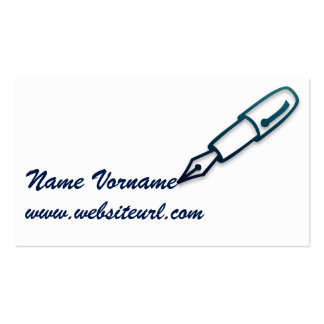 write pack of standard business cards