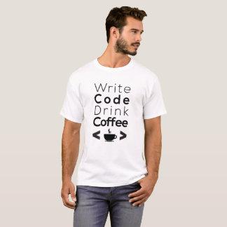 Write code drink coffee - programming languages T-Shirt