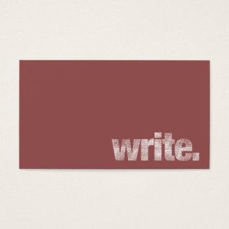 Write: Freelance Writer, Author Marsala Business Card