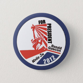 Write In Ronald Gascon for President 2012 2 Inch Round Button