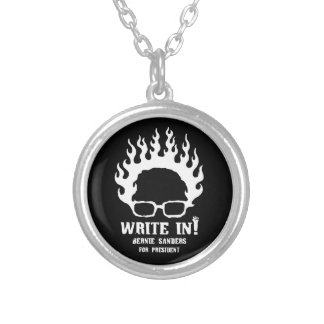 Write in! silver plated necklace