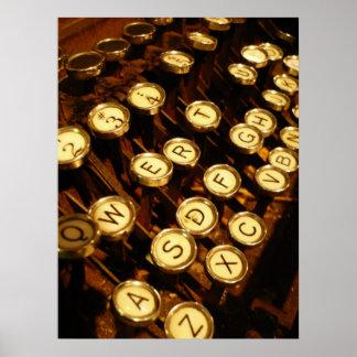 Write Me - letter keys Poster