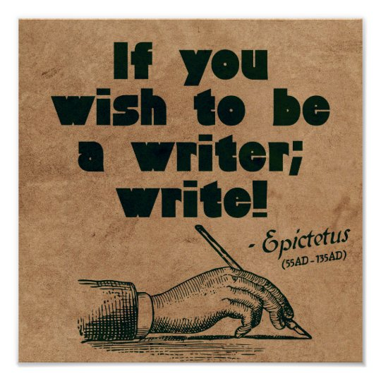 Write! - motivational quote poster