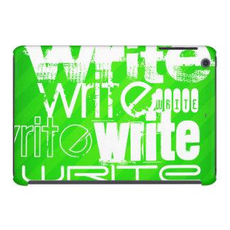 Write; Neon Green Stripes iPad Mini Retina Covers
