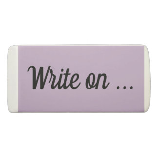 Write On ... Eraser - Light Purple/Black