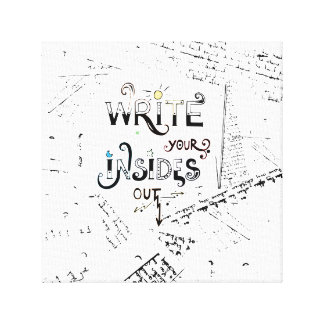 Write your Insides OUT! Canvas Print