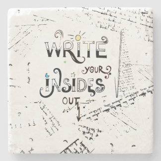 Write your Insides OUT! Stone Coaster