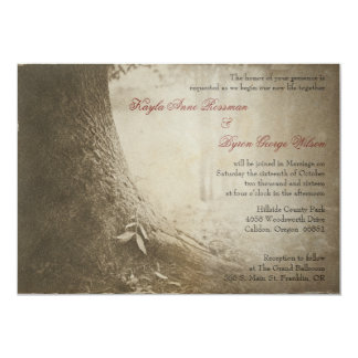 Write Your Name on the Tree Wedding Invitation