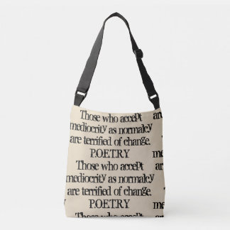 Write Your Poetry... Crossbody Bag