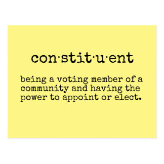 Write Your Representative Constituent Postcard