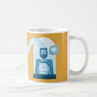 'Writer and reader' mug (gold background)