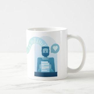 'Writer and reader' mug (white background)