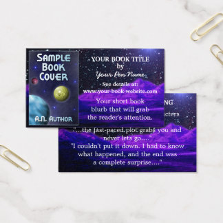 Writer Author Book Promotion Space Science-Fiction Business Card