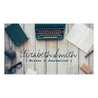 Writer author cool vintage typewriter professional business card