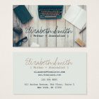 Writer author cool vintage typewriter professional business card