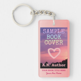 Writer Author Promotion Book Cover Pink White Keychain
