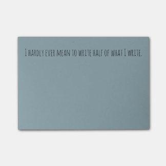 Writer brain post-it note