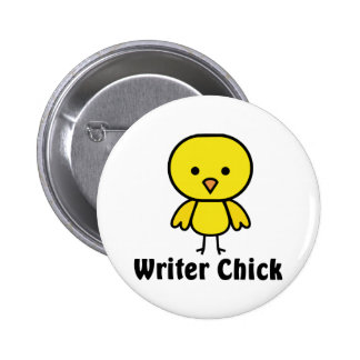 Writer Chick 2 Inch Round Button