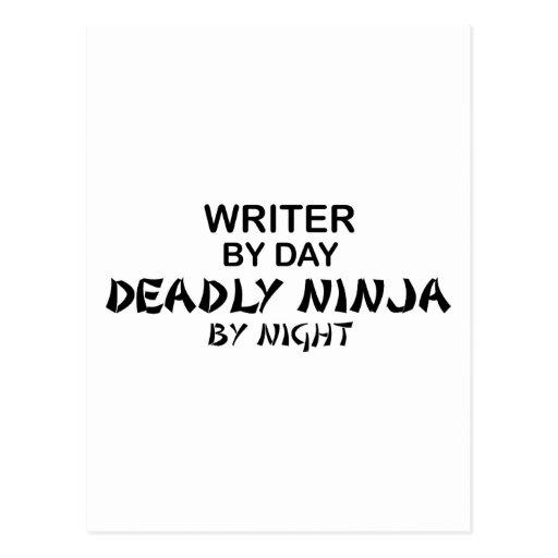 Writer Deadly Ninja by Night Postcard