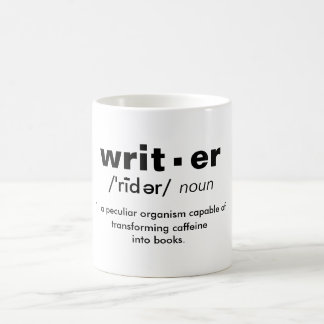 """writer"" definition coffee mug"