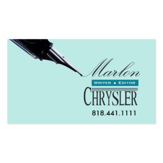 Writer Editor 2 Stylish Creative Business Cards