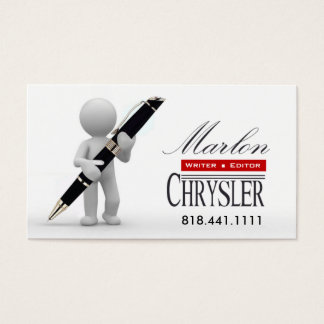 Writer Editor 3 Stylish Creative Business Cards