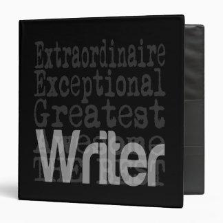 Writer Extraordinaire Vinyl Binders