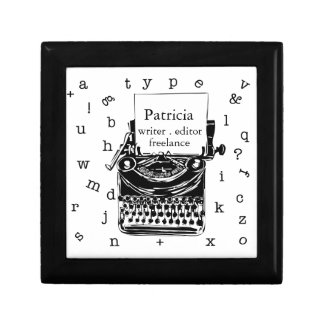Writer Freelance Retro Vintage Typewriter Gift Box
