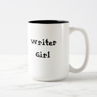Writer Girl Two-Tone Coffee Mug