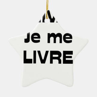 WRITER, I DELIVER MYSELF - Word games Ceramic Ornament