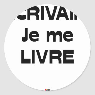 WRITER, I DELIVER MYSELF - Word games Classic Round Sticker