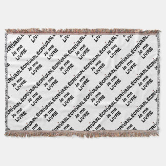 WRITER, I DELIVER MYSELF - Word games Throw Blanket