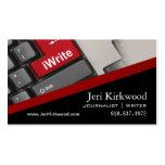 Writer Journalist Author Reporter Novelist Business Cards