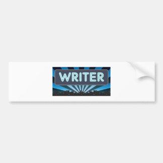 Writer Marquee Bumper Sticker