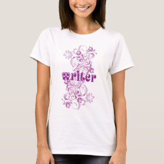 Writer Occupation Swirl Womens Tshirt Gift