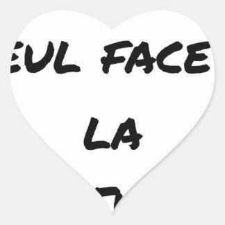WRITER? ONLY VIS-A-VIS the ERASURE - Word games Heart Sticker