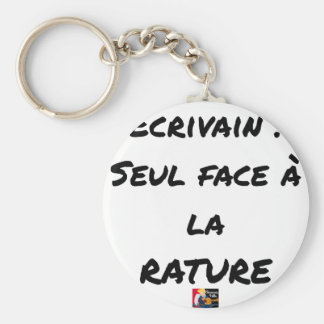 WRITER? ONLY VIS-A-VIS the ERASURE - Word games Keychain