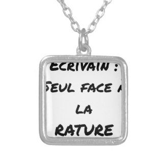 WRITER? ONLY VIS-A-VIS the ERASURE - Word games Silver Plated Necklace