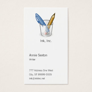 Writer Pen Pencil Cup Business Card