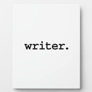 writer. plaque